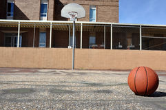 Outdoor Basketball Court at School Stock Images