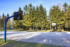 Outdoor basketball court Stock Photography