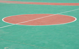 Outdoor basketball court Stock Images