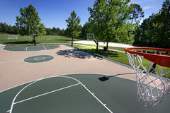 Outdoor Basketball Courts Stock Photos