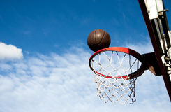 Outdoor basketball details Royalty Free Stock Photography