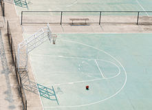 Outdoor basketball field Royalty Free Stock Image