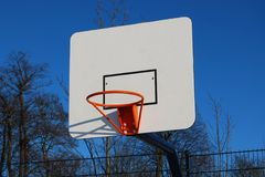 Outdoor basketball hoop Royalty Free Stock Photography