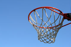 Outdoor basketball hoop Stock Image