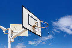 Outdoor basketball hoop Royalty Free Stock Images