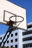 Outdoor basketball hoop against blue sky Royalty Free Stock Photo