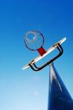Outdoor Basketball Hoop with Blue Sky. Outdoor basketball hoop and blue sky Stock Photography
