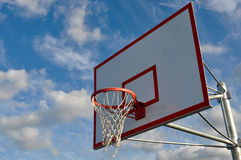 Outdoor Basketball Hoop Close Up Stock Images