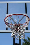 Outdoor basketball hoop with net and backboard Royalty Free Stock Photography