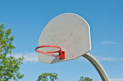 Outdoor Basketball Hoop with no Net Stock Images