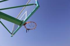 Outdoor basketball hoop Stock Image