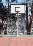Outdoor Basketball hoop on an Urban outdoor playground Royalty Free Stock Photos