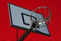 Outdoor basketball palisade Stock Images