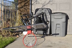 Outdoor basketball standard upended Royalty Free Stock Photos