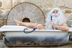 Outdoor bath stock photo