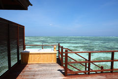Outdoor Bathtub in Maldives Royalty Free Stock Photography