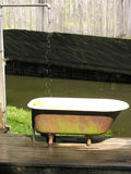 Outdoor Bathtub and Shower Royalty Free Stock Image