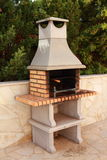 Outdoor BBQ. An Outdoor brick and stone BBQ stock photography