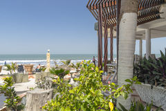 Outdoor beach restaurant Royalty Free Stock Photos