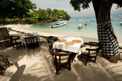 Outdoor beach restaurant Royalty Free Stock Photography