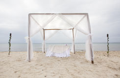 Outdoor beach wedding gazebo Royalty Free Stock Photo