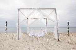 Outdoor beach wedding gazebo Royalty Free Stock Photo