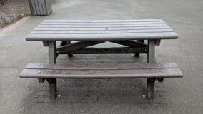 Outdoor Bench at Capstone Park, Medway Kent, UK stock photo