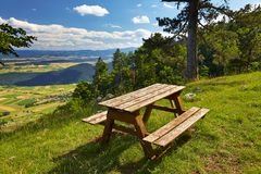 Outdoor bench Stock Photo