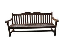 Outdoor bench seat Stock Image