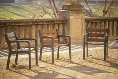 Outdoor benches Stock Photos