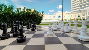Outdoor big chess in the garden timelapse stock video