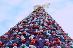Outdoor big Christmas decoration Stock Photos