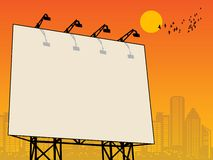 Outdoor billboard. With space for text Royalty Free Stock Images