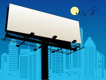 Outdoor billboard. In city, color illustration Stock Images