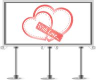 Outdoor billboard with heart. Love Vector theme Royalty Free Stock Photo