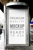 Outdoor billboard mockup isolated branding Royalty Free Stock Photos
