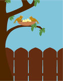 Outdoor bird scene Stock Images