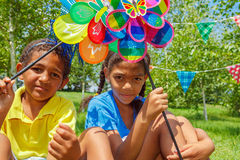 Outdoor birthday party Stock Photos