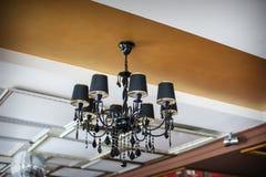 Outdoor black chandelier, decorative element Stock Images