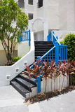 Outdoor black stair Stock Photography