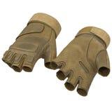 Outdoor Blackhawk short finger gloves US Soldier on white. 3D illustration Royalty Free Stock Photography
