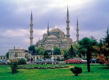 Exterior of Blue Mosque, Istanbul Stock Images