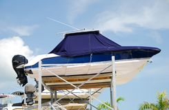 Outdoor boat storage Royalty Free Stock Images