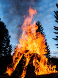 Outdoor bonfire Royalty Free Stock Photography