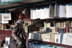 Outdoor bookseller box Stock Image