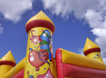 Outdoor Bouncy castle Royalty Free Stock Photo