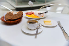 Outdoor breakfast in the hotel Stock Image