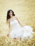 Outdoor Bride smiling Royalty Free Stock Images