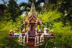 Outdoor Buddhist altar Stock Image