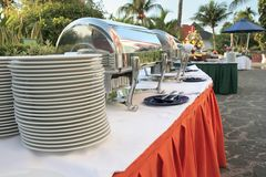 Outdoor buffet Royalty Free Stock Image
